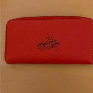 Disney Coach Mickey on Motorcycle Wallet